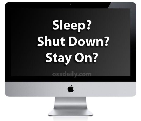 关机、睡眠、始终保持开机,谁更适合 Mac?