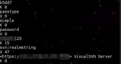 取回linux下SVN迁移时忘记了用户名和密码的办法