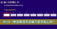 电话激活Windows8.1系统提示确认你的ID数字无法输入数字