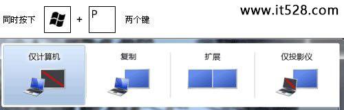让Windows 7双屏切换的快捷键巧组合