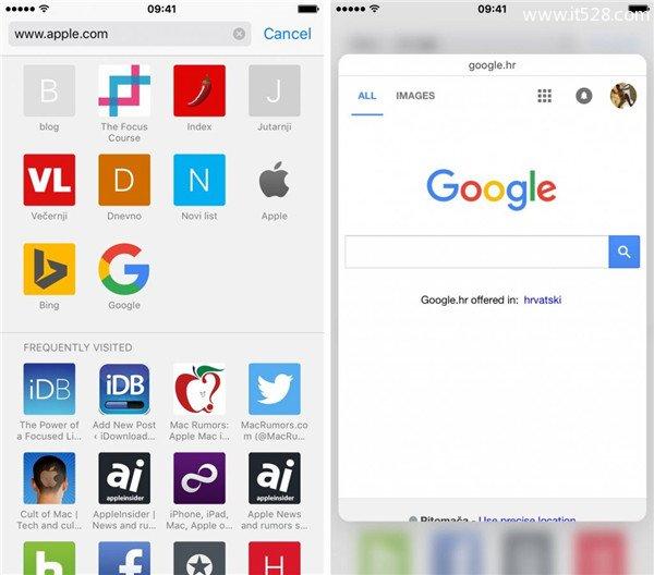 iPhone 6s的3D Touch在Safari内的八个应用