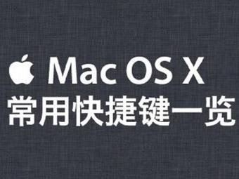 Mac OS X常用快捷键操作的图文教程