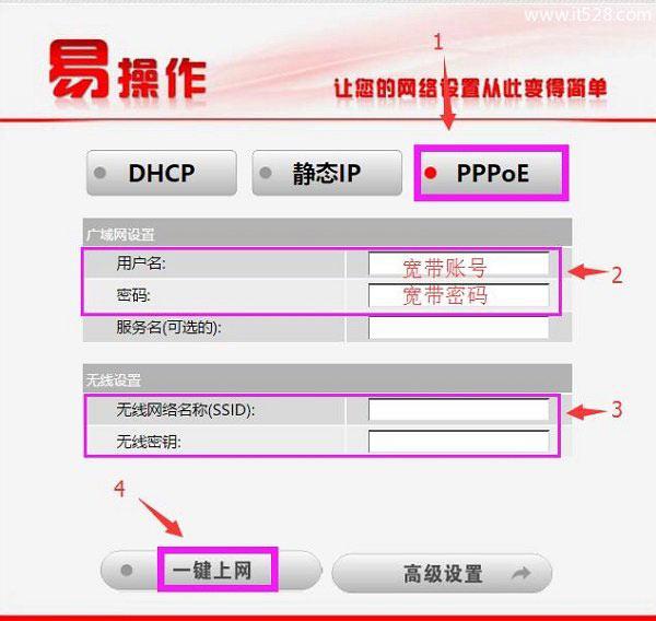 192.168.68.1路由器PPPoE拨号上网设置