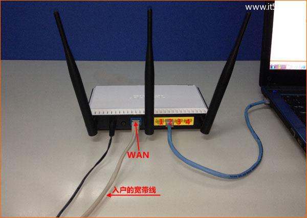 宽带是入户网线接入时,路由器的正确连接方式