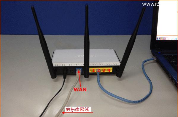 从房东家拉的网线怎么设置连接无线路由器?