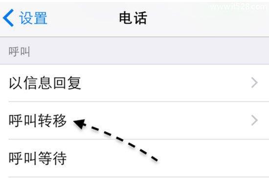 苹果iPhone手机呼叫转移设置方法